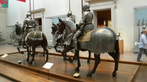 The Arms and Armor hall of the Metropolitan Museum or Art, a place with a pay-what-you wish policy